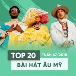 Tải bài hát Mp3 Top 20 Bài Hát Âu Mỹ Tuần 47/2018